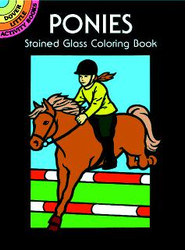 Ponies Stained Glass Colouring Booklet