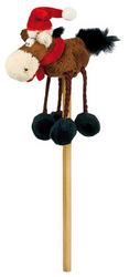 Pen with Christmas Horse Topper