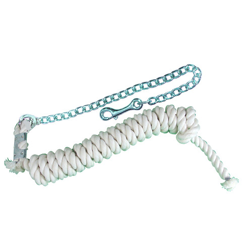 """Cotton Lead Rope with 30"""" Chain"""