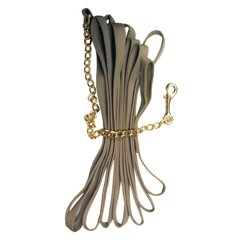 Deluxe Cotton Lunge Line with Brass Chain