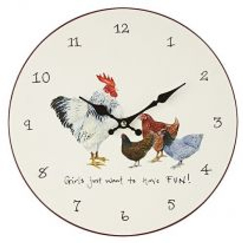 Wall Clock - Girls Just Want to Have Fun!