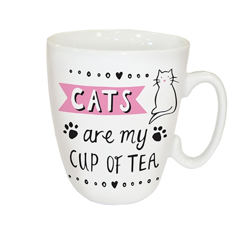 Curved Mug - Cats Are My Cup Of Tea