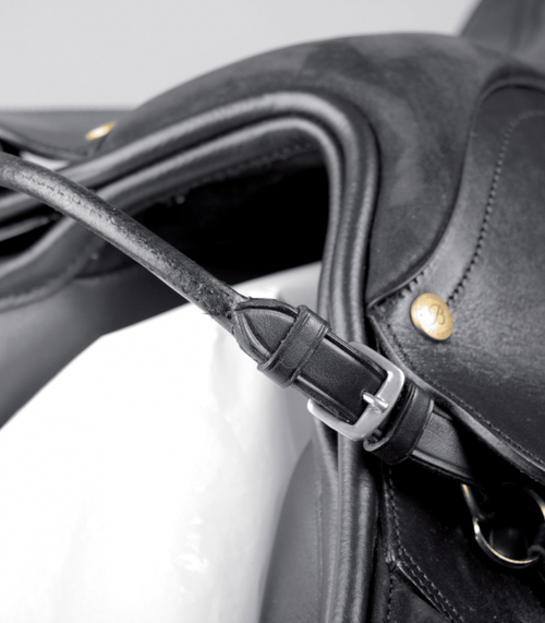 Rolled Leather Bucking Strap