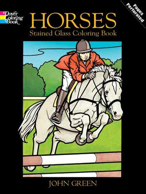 Horses Stained Glass Colouring Book