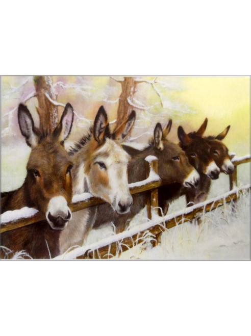 Christmas Cards 10 Pack - Donkey Friends