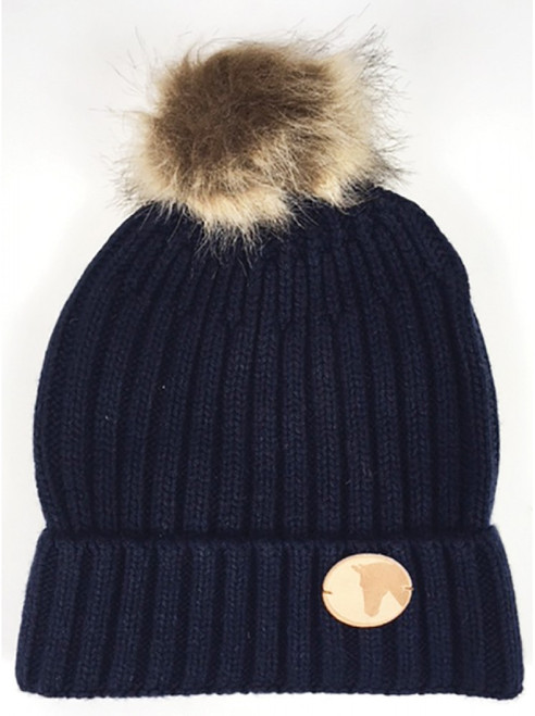 Knitted Coin Bobble Hat