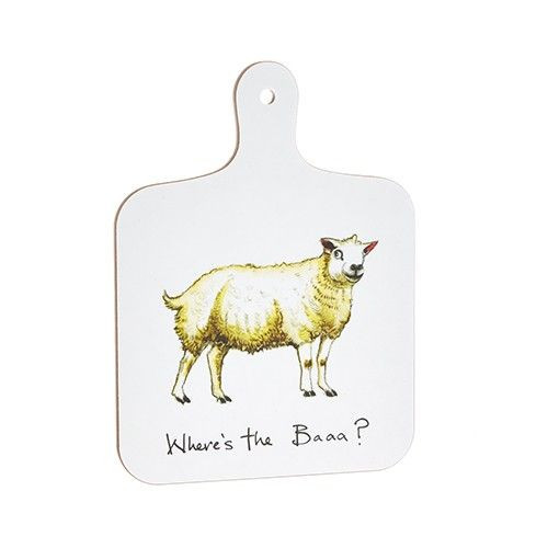 Mini Chopping Board - Where's the Baaa?