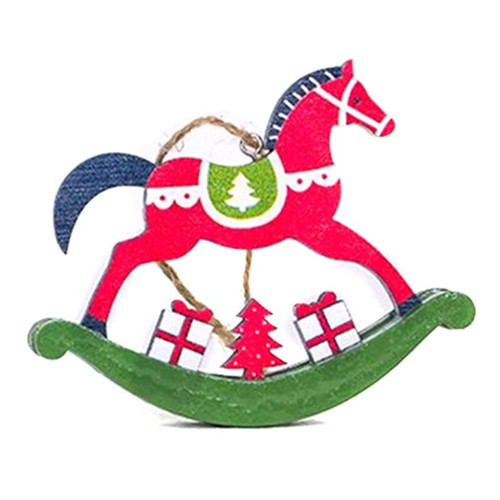 Rocking Horse Ornament - Red