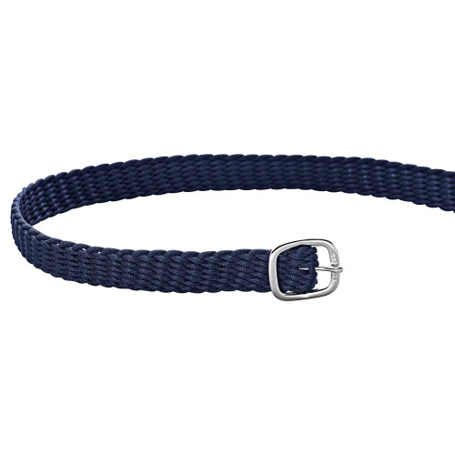 Navy Perlon Spur Straps with Silver Buckles
