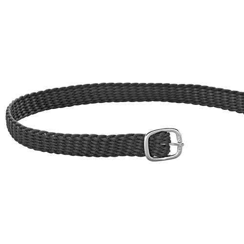 Grey Perlon Spur Straps with Silver Buckles
