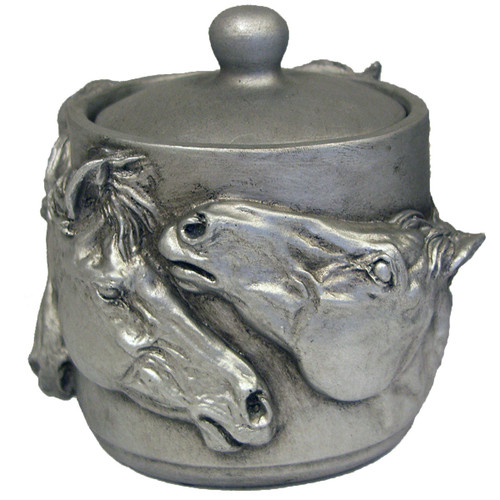 Metal Horse Pot with Lid