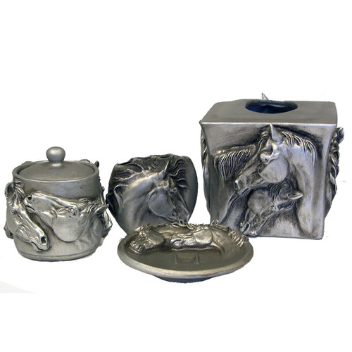Metal Horse Complete Bathroom Set