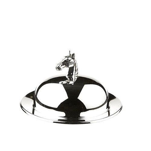 Silver Plated Horse Head Butter Dish