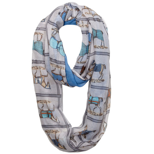 """""""Lila"""" Infinity Scarf - Equestrian Blanketed"""