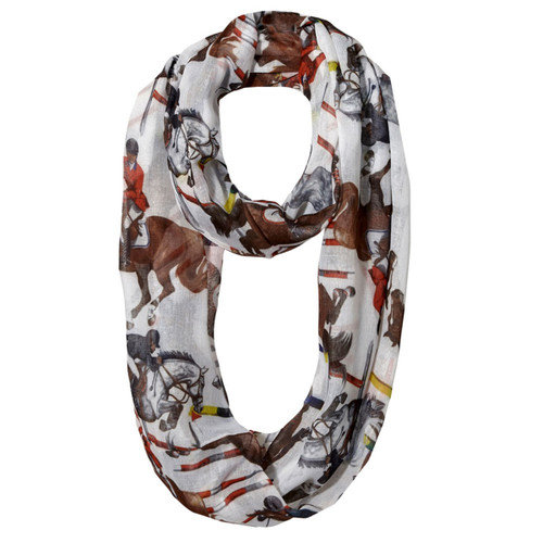 """""""Lila"""" Infinity Scarf - Equestrian Jumping"""