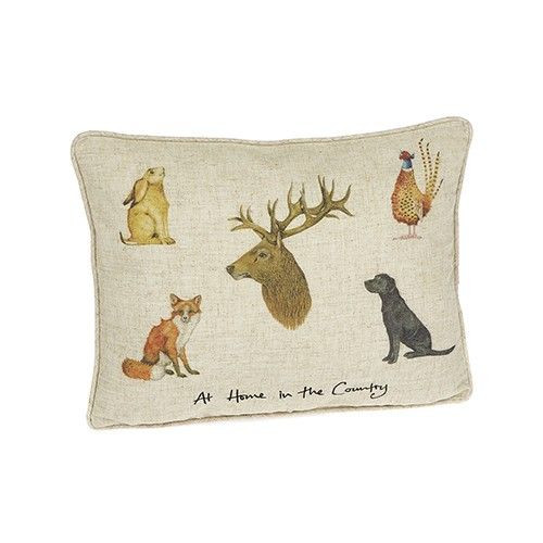 """Linen Mix Cushion 12"""" x 16"""" - At Home In The Country"""