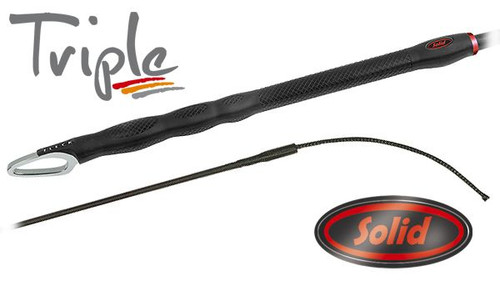 TRIPLE Solid Dressage Whip