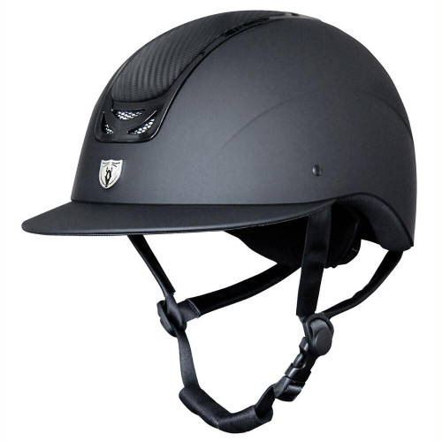 Wide Brim Royal Helmet - Carbon Leather