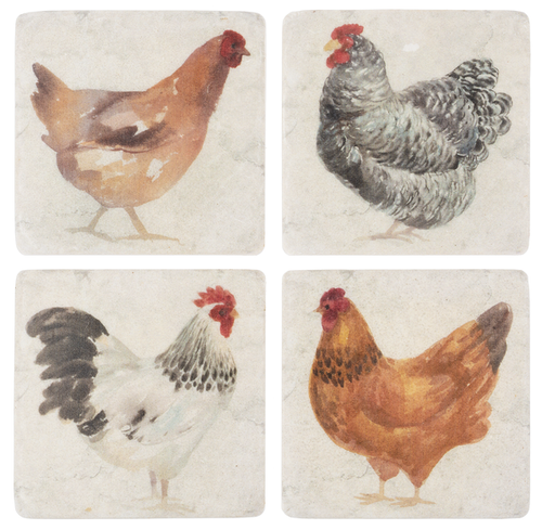 Chicken Coaster - Set of 4