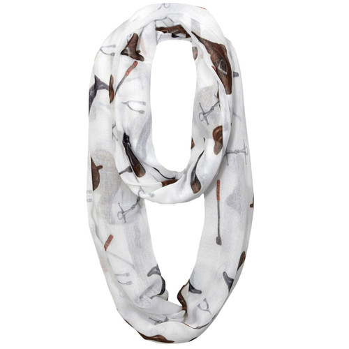 """Lila"" Infinity Scarf - English Tack"