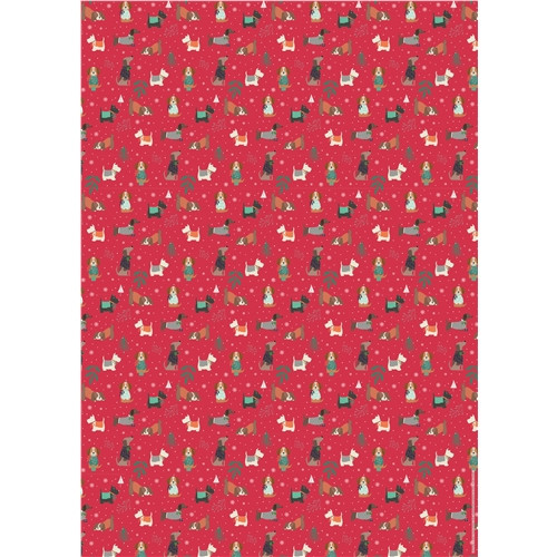 Christmas Gift Wrap & Tags - Dogs in Sweaters
