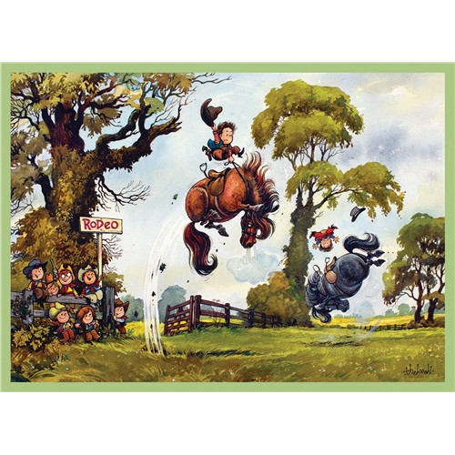 Thelwell Greeting Card - Rodeo