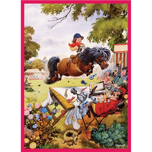 Thelwell Greeting Card - Up for the Cup