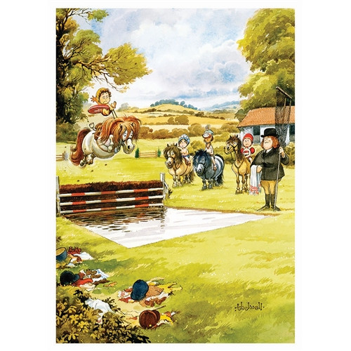 Thelwell Greeting Card - Water Jump