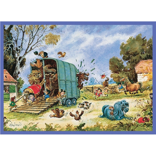 Thelwell Greeting Card - The Horsebox