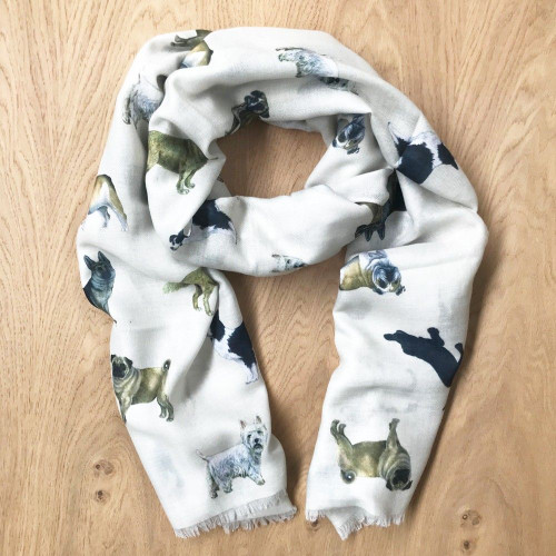 Lightweight Scarf - Dog Lovers