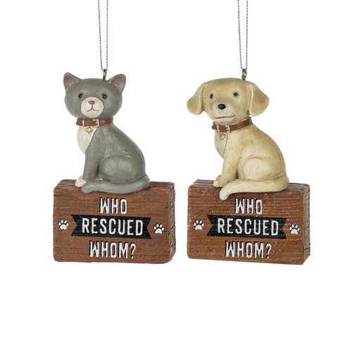 Who Rescued Whom? Ornaments - Set of 2