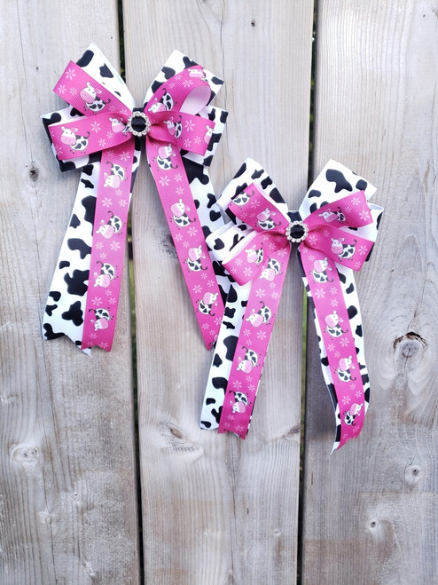 Show Bows - Pink Moo Cows