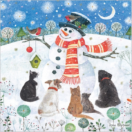 Christmas Cards 10 Pack  - Snowman's Friends