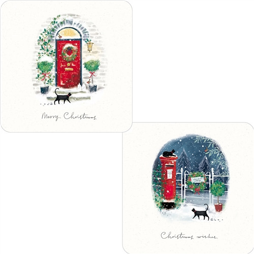 Christmas Cards 10 Pack  - Cats & Post
