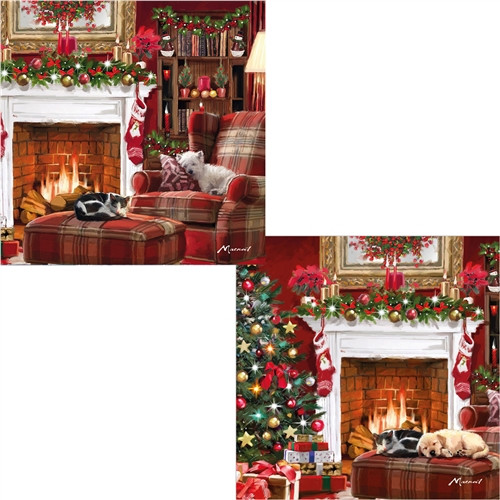 Christmas Cards 10 Pack  - Fireplace Friends