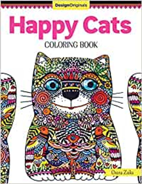 Happy Cats Colouring Book
