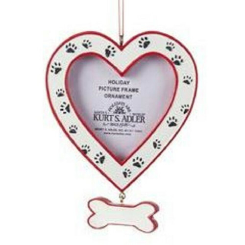 Heart Photo Frame with Dog Prints