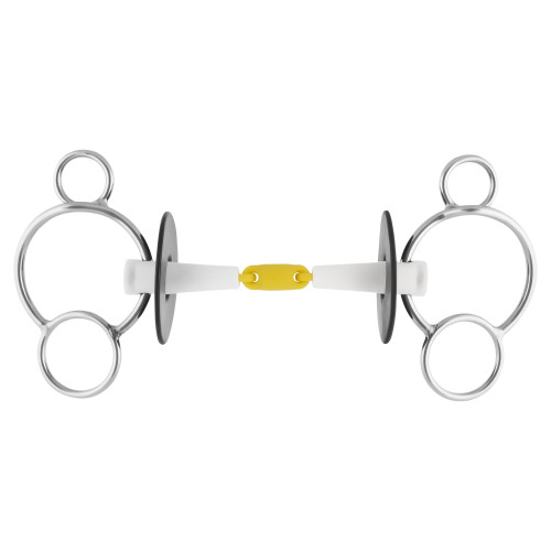 Nathe 3-Ring Double Jointed Snaffle 18 mm