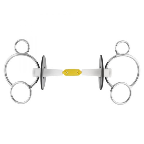 Nathe 3-Ring Double Jointed Snaffle 20 mm