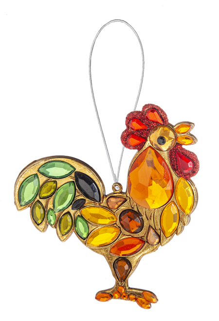 Acrylic Rooster Ornament