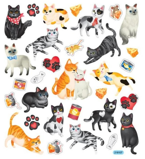 Cats & Hearts Stickers