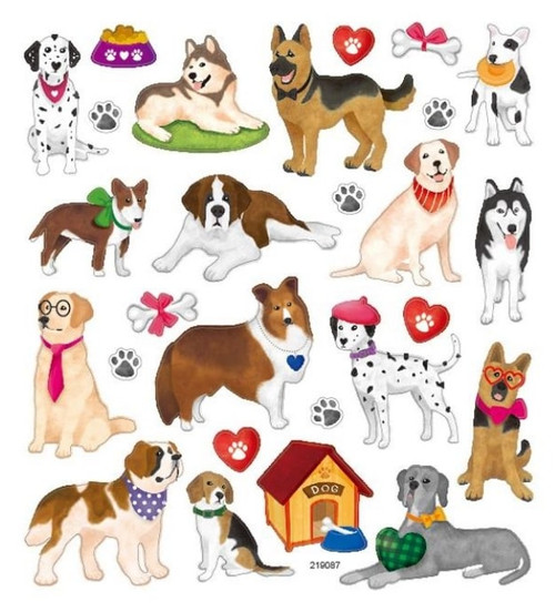 Dogs & Hearts Stickers