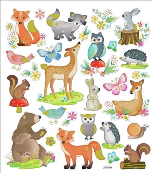 Woodsy Creatures Stickers