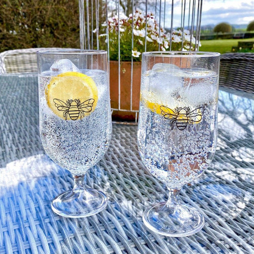 Polycarbonate Bee Goblets - Pair
