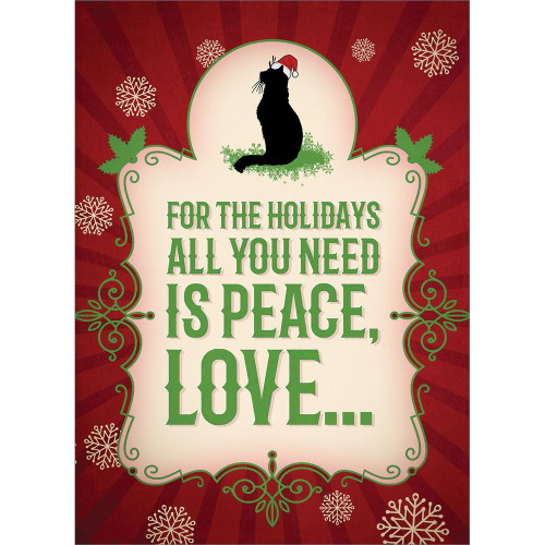 Christmas Card - More Cats