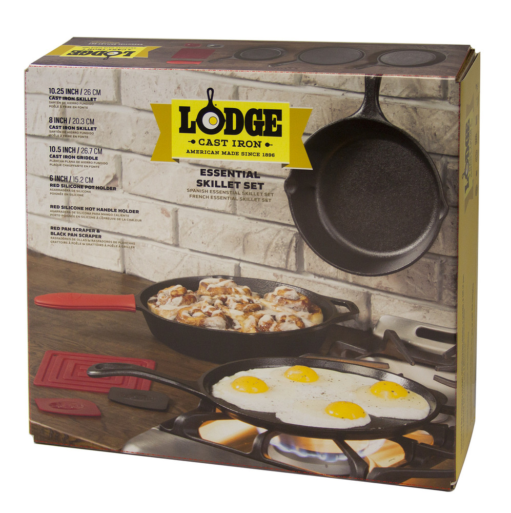 Lodge 6 Piece Cast Iron Skillet Set