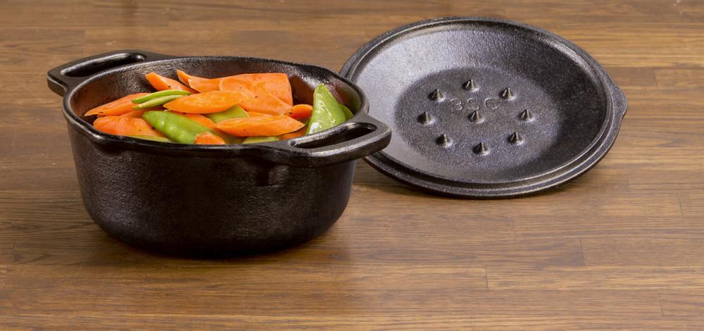 1 Quart Cast Iron Serving Pot