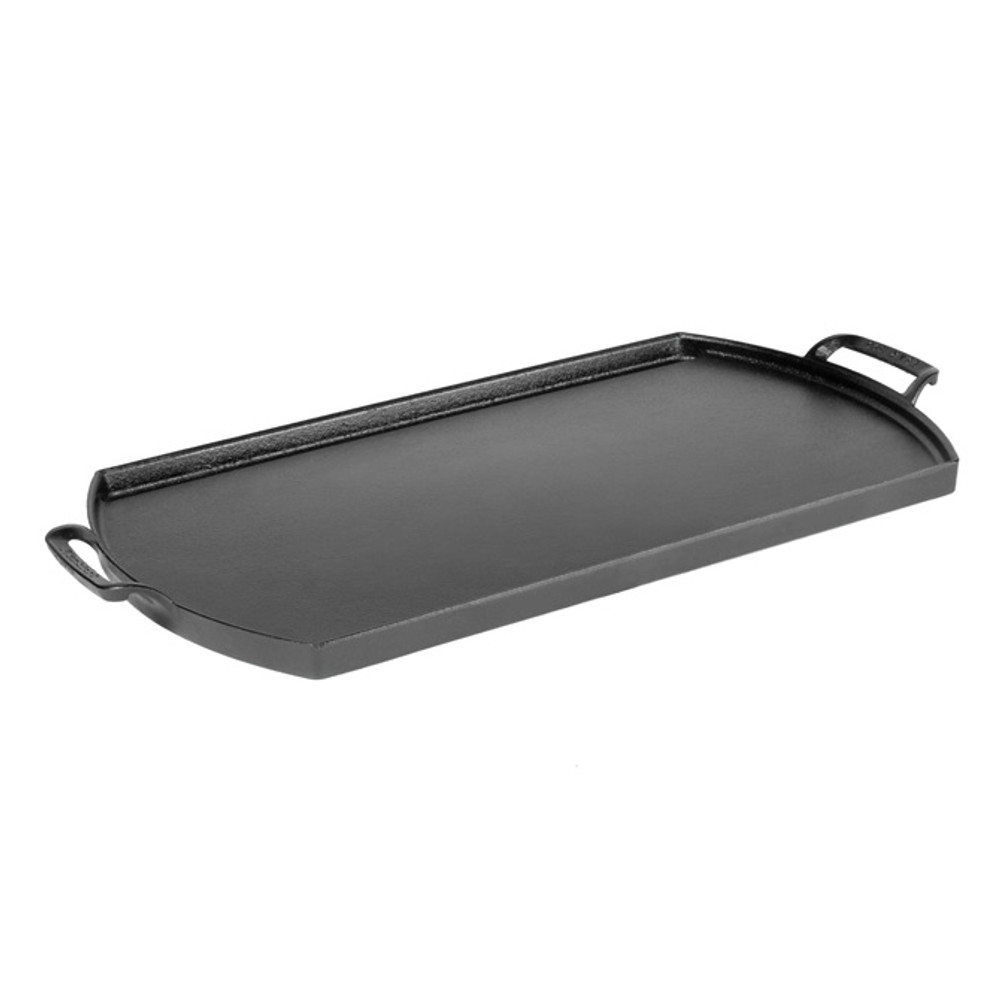 Triple Seasoned Cast Iron Double Burner Griddle