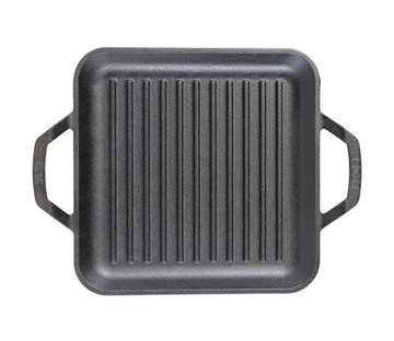 Cast Iron 11 Inch 'Chef Style' Square Grill Pan