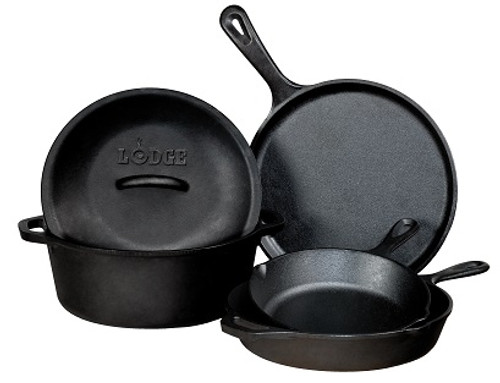 Lodge 5 Piece Cast Iron Set